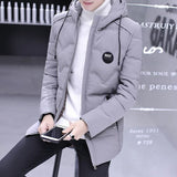 Parkas Men Large Size Hooded Winter Pockets All-match Zipper Simple Korean Parka Mens Trendy Ropa De Hombre 2020 Outerwear Chic