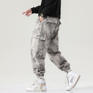 MrGoldenBowl 2020 Autumn New Straight Harem Pants Chinese Style Man Loose Ankle-Length Trousers Streetwear Male Casual Pants
