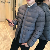 Parkas Men Winter Large Size Pockets Stand Collar Leisure Simple All-match Korean Parka Mens Trendy Hombres Ropa 2020 Outerwear