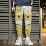 Spring Autumn 2020 New Student Loose Harem Pants Men Korean version Fashion Multi-pocket Casual Trousers Cargo Pants Plus Size