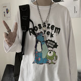 2021 spring new fashion trend printed long sleeve T-shirt for couples Outdoor Kpop Holiday Preppy Style Hip Hop