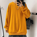 2021 new Japanese neutral couple large leisure sports solid color Pullover men's coat Minimalist Smart Casual