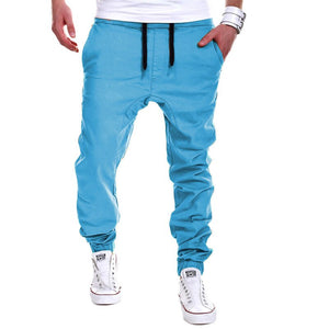 Men's Pants New Fashion Slim Solid Color Elasticity Men Casual Pants Man Trousers Designer Mens Joggers M-3XL