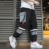 2020 Men's Streetwear Splice Design Side Fashion Pocket Comfortable High Quality Low Moq Trousers Casual Pants for Man