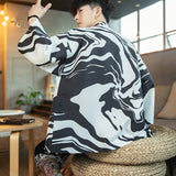 Sincism Store  Print Loose Kimono Summer Men Jackets 2020 Chinese Style Sun Protection Clothing Man Open Stitch Jackets Oversize