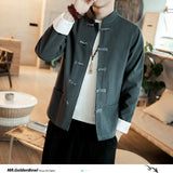 MrGoldenBow Autumn 3 Colors Man Jackets Vintage Button Men Casual Coats 2020 Chiese Style Male Loose Outwear Tops