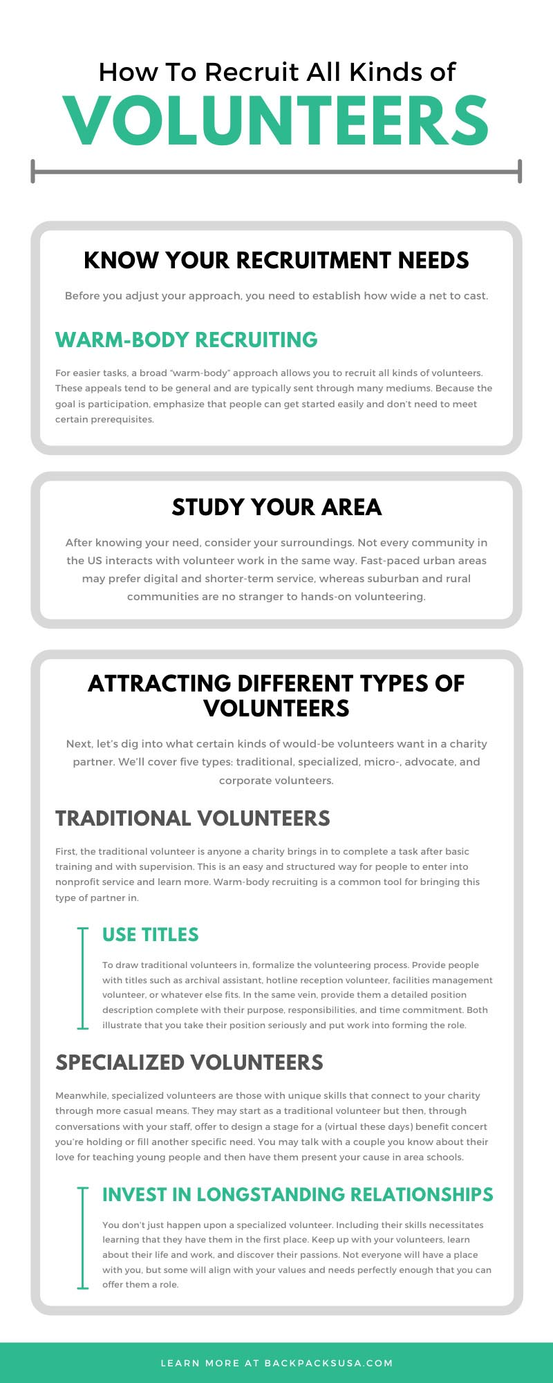 How To Recruit All Kinds of Volunteers