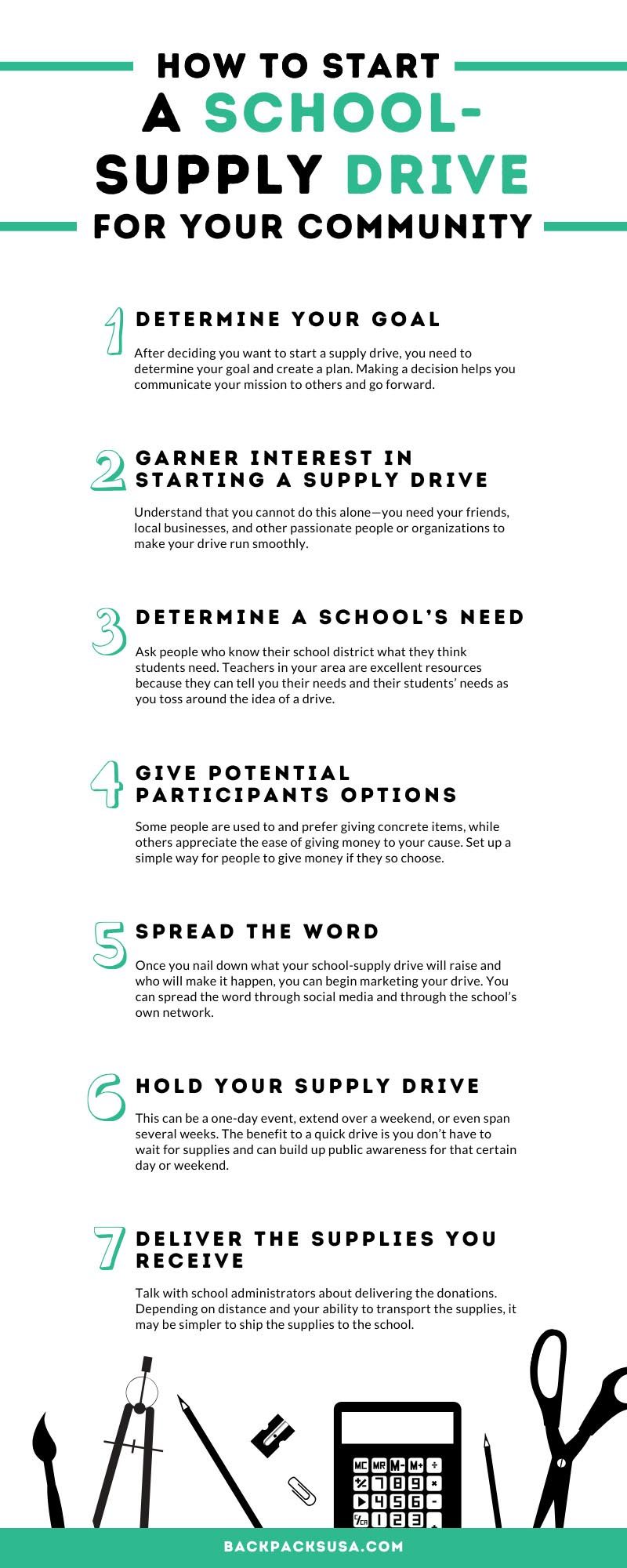 How to Start a School-Supply Drive for Your Community