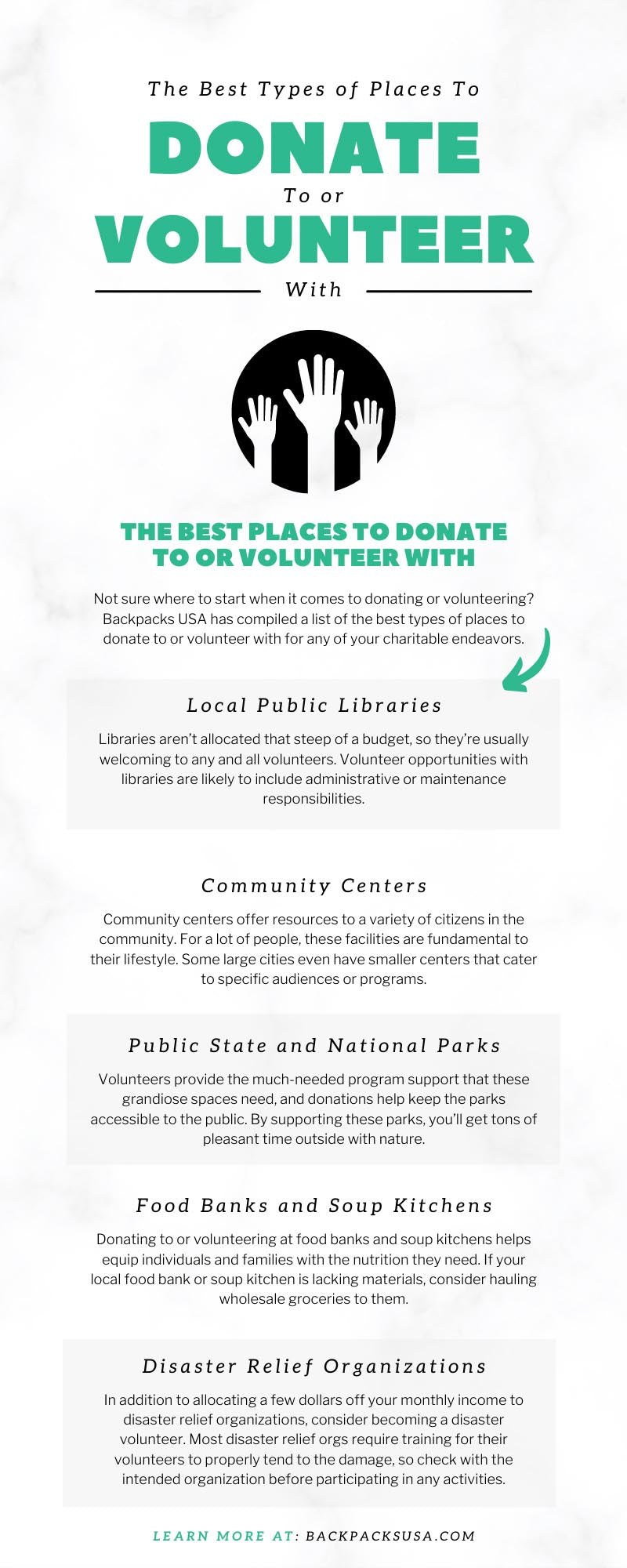 The Best Types of Places To Donate To or Volunteer With