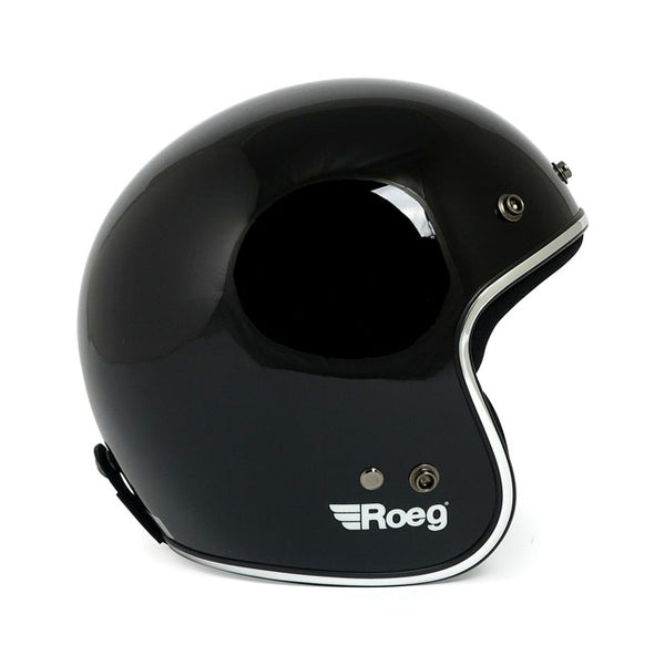 motorcycle helmet, gloss black
