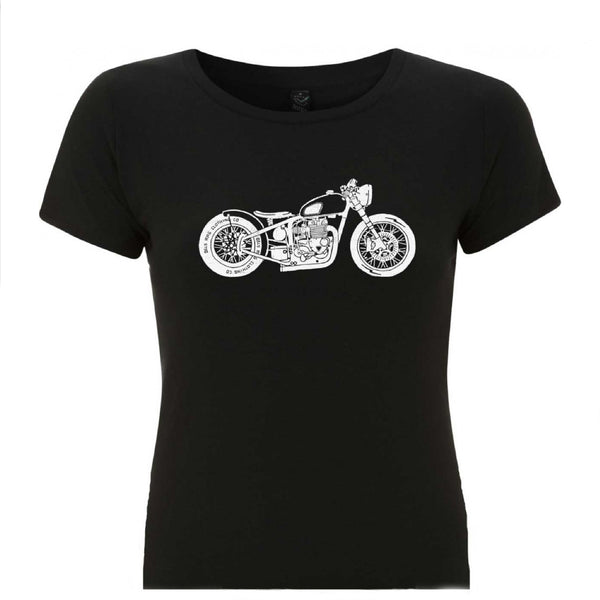 Motorcycle Bobber T-shirt - Black