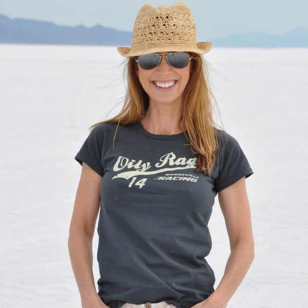 Ladies tshirt, racing, bikergirl, bonneville