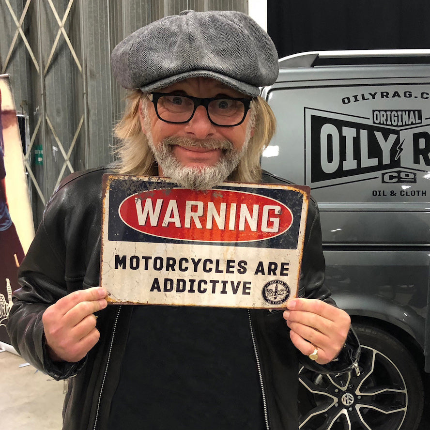 Motorcycles are Addictive Alloy Sign
