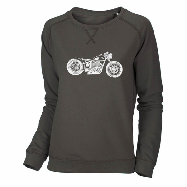 Motorcycle Bobber Sweatshirt - Khaki Brown
