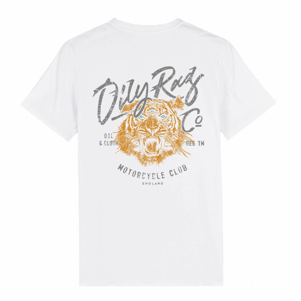 Motorcycle Club Tiger T-shirt - White