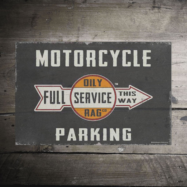 Motorcycle Parking Alloy Sign