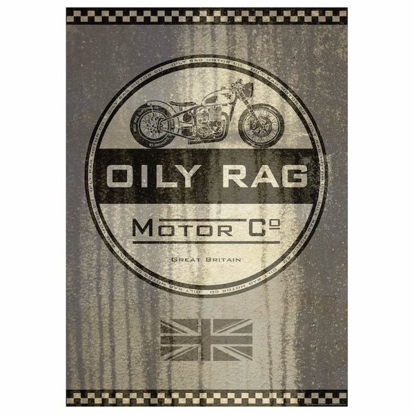 Oily Rag Motor Co Print - Size A1 841mm x 594mm