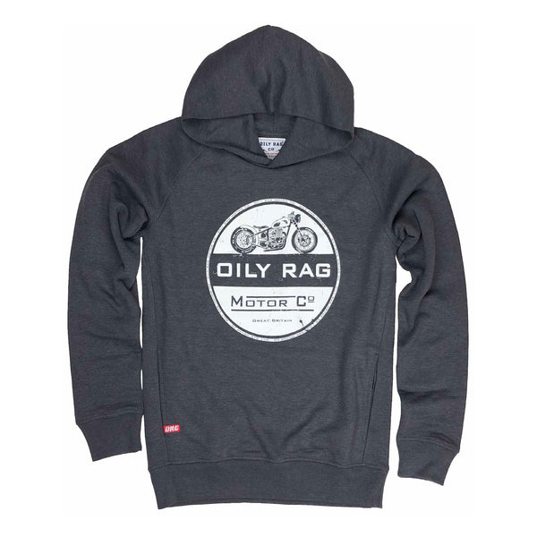 Motor Co Pullover Hoodie - Dk Grey Heather