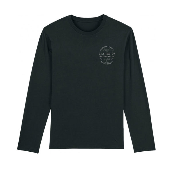 Parts & Service Long Sleeve Top - BLACK