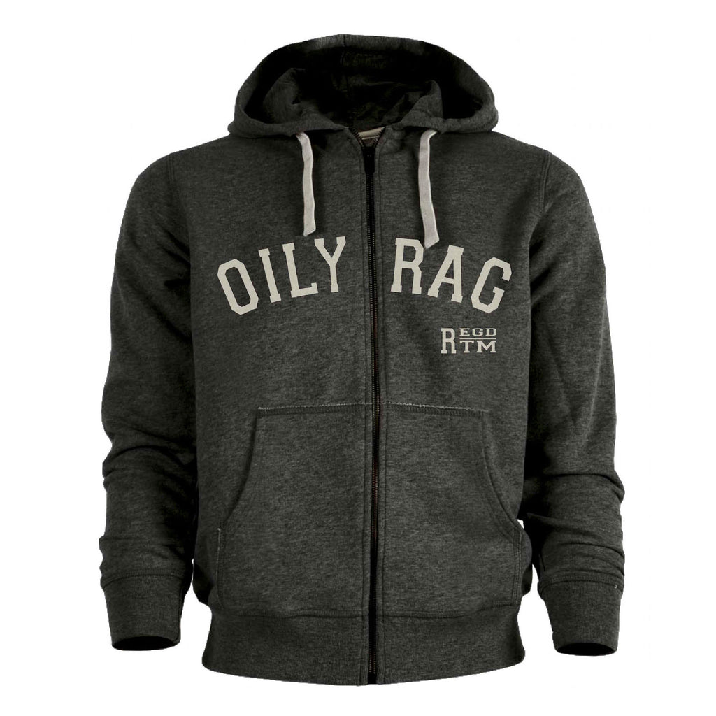 Regd TM Zip-Thru Hoodie - Dk Grey Heather