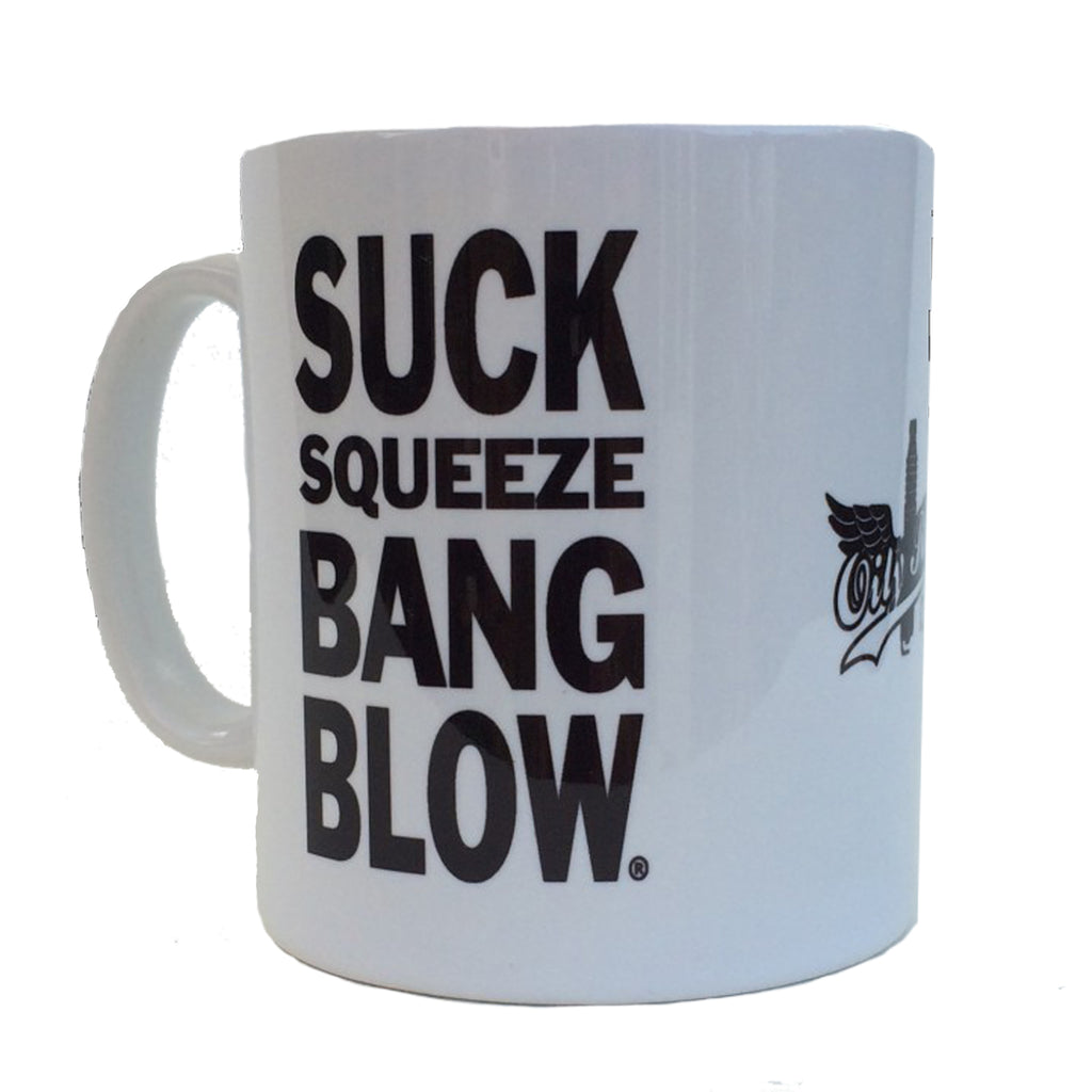 """SUCK SQUEEZE BANG BLOW"" Mug (2 free coasters included)"