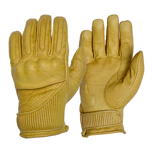 GOLDTOP Viceroy Gloves - Tan / Silk Lined