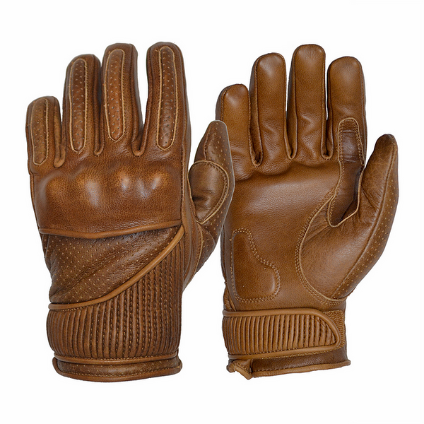 GOLDTOP Viceroy Gloves - Waxed Brown / Silk Lined