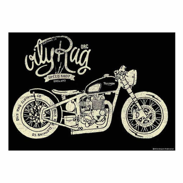 Oily Rag Speed Shop Print - Size A1 841mm x 594mm