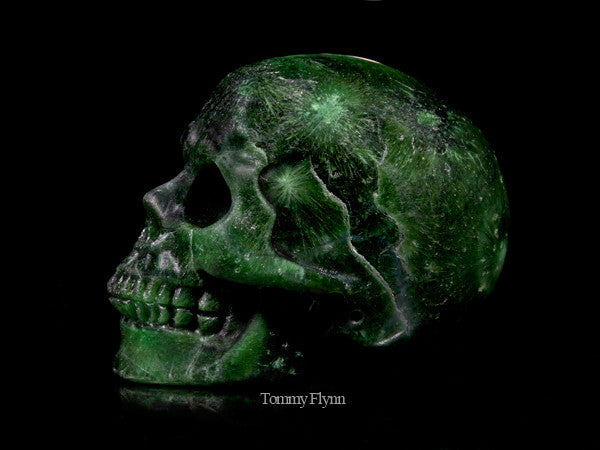 Green Coral Stone Skull