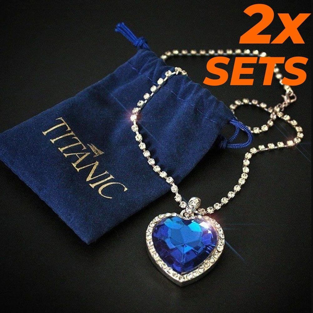Titanic Heart Of Ocean Forever Pendant (2sets)