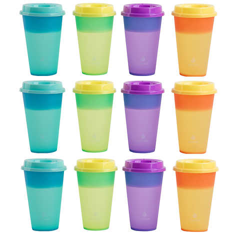 Manna 473 ml (16 oz.) Hot Colour Changing Cups, 12-Pack