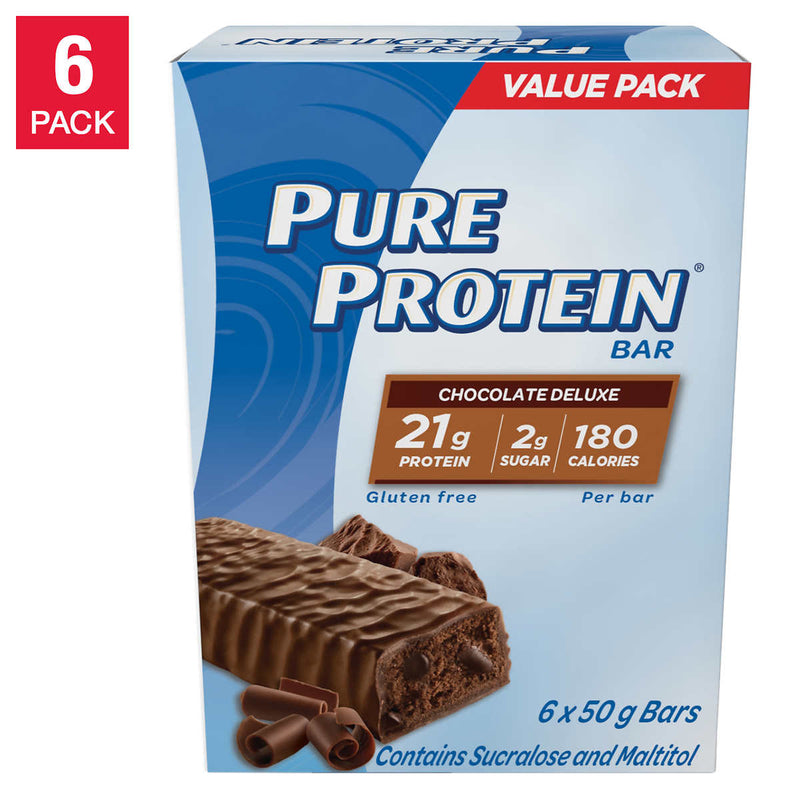Pure Protein - Chocolate Deluxe Protein Bars 6 Boxes