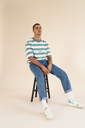 Load image into Gallery viewer, MENTHE STRIPE TEE