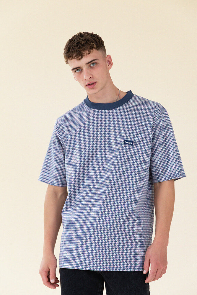 Load image into Gallery viewer, DOGTOOTH JACQUARD KNIT TEE