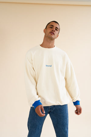 ECRU X MAJORELLE REVERSE FLEECE OVERSIZED SWEATER