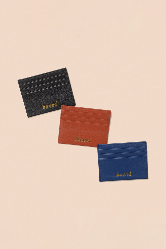GENUINE LEATHER CARD HOLDERS (3 COLOURS)