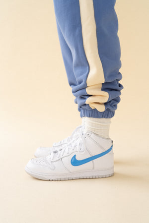 CAROLINA BLUE STRIPE JOGGERS