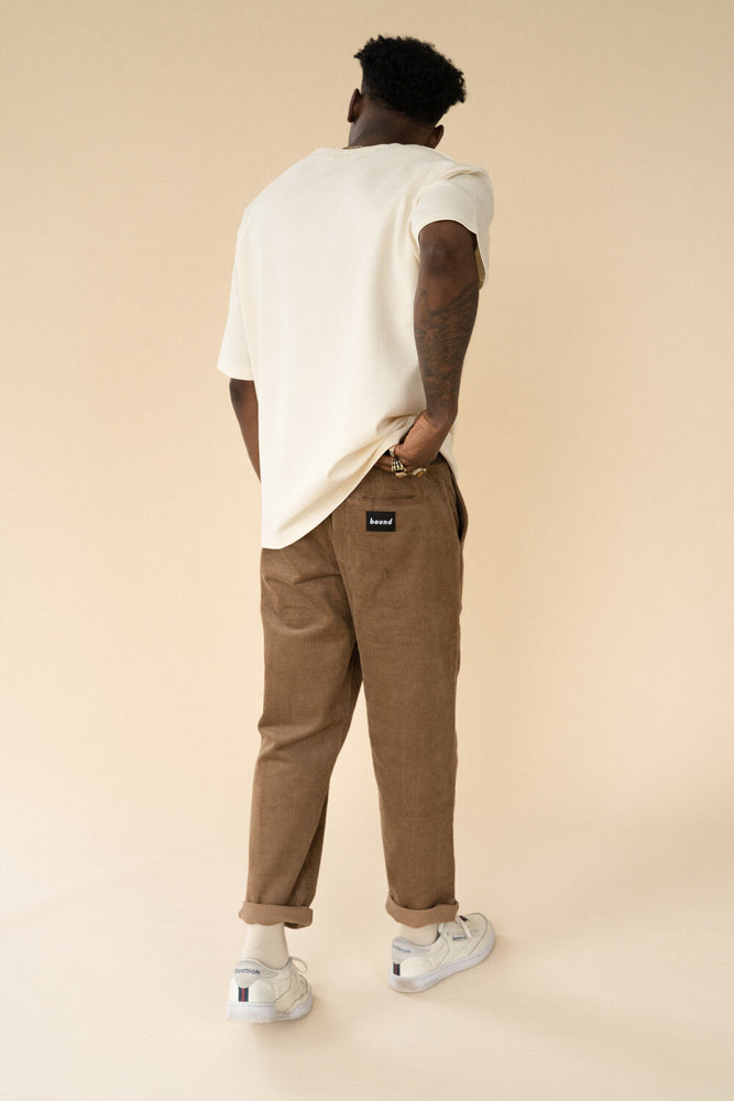TAN CORDUROY TROUSERS