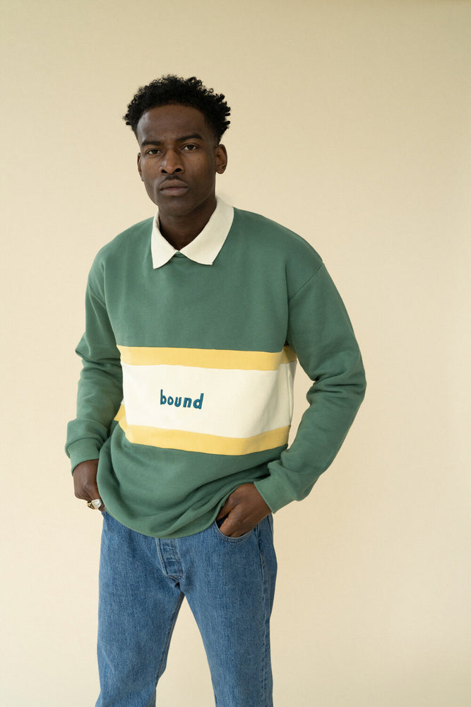 SAGE PANEL COLLARED SWEATER