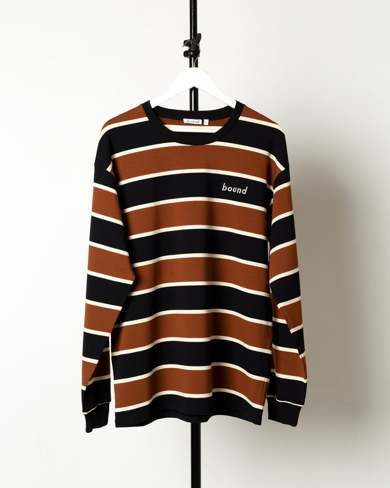 EARTH STRIPE HEAVY LS TEE