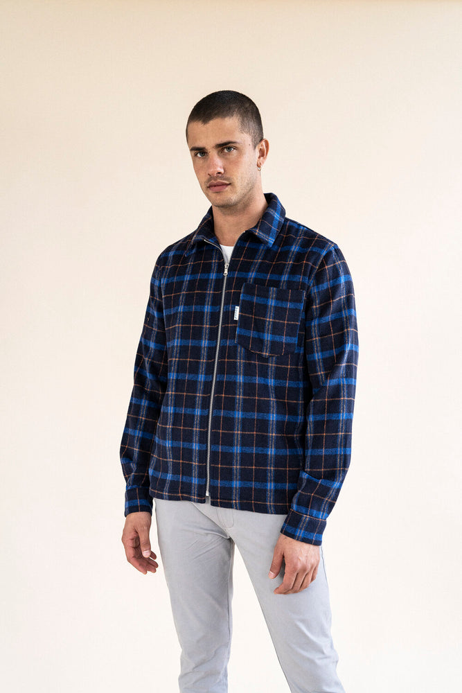 FLEET FLANNEL ZIP OVERSHIRT