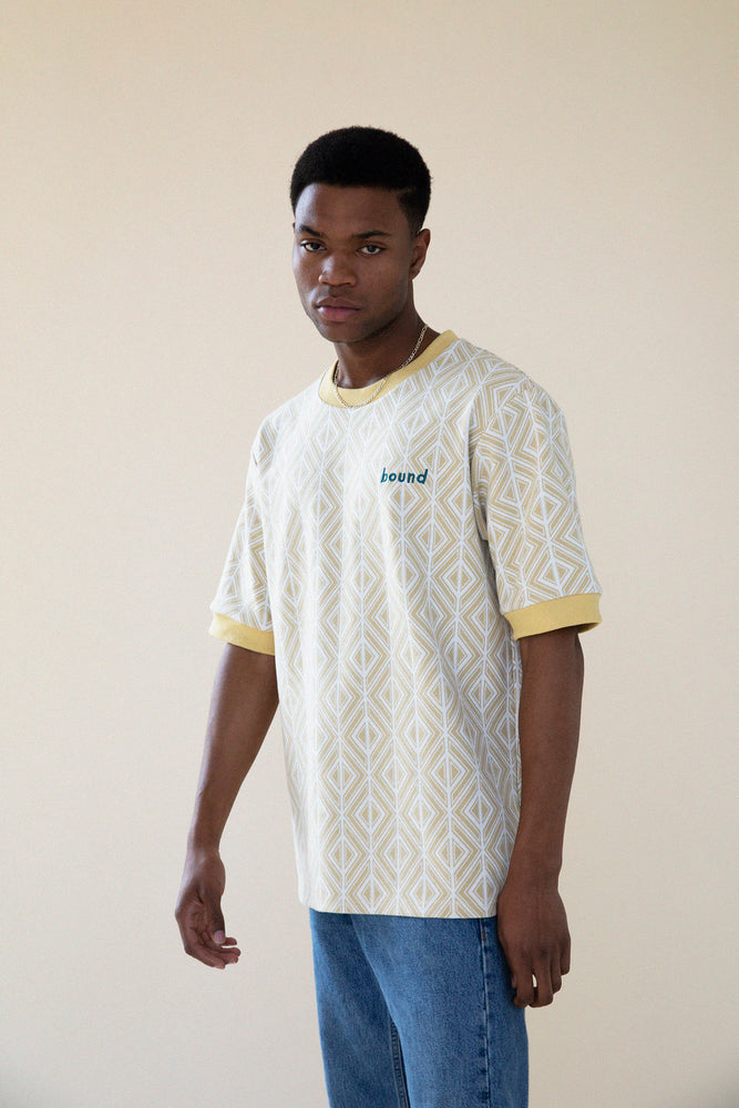 Load image into Gallery viewer, SUN GEO JACQUARD KNIT TEE