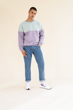 Load image into Gallery viewer, LAVENDER MENTA SPLIT SWEATER