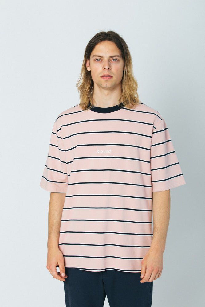 Load image into Gallery viewer, PINK STRIPE TEE