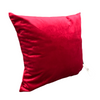 Coussin velours rubis