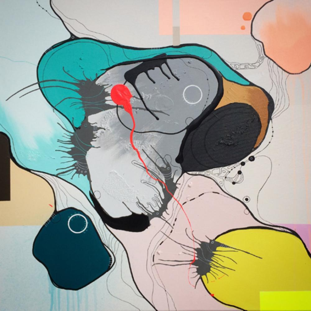 Blowing objects 80x80 cm