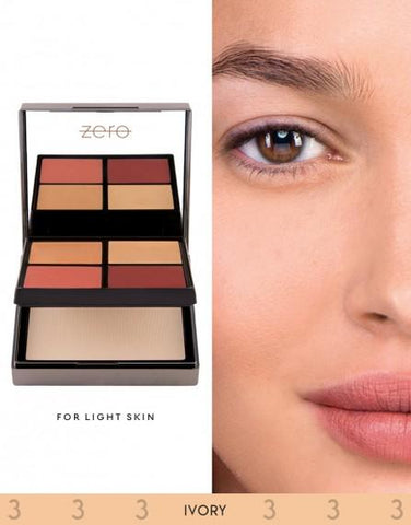 ZERO Makeup Face Perfecting Palette (Ivory) - Basics.Pk