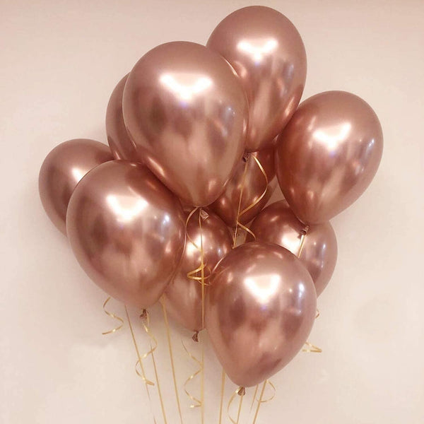 Balloons Metallic Rose Gold (single) - Basics.Pk
