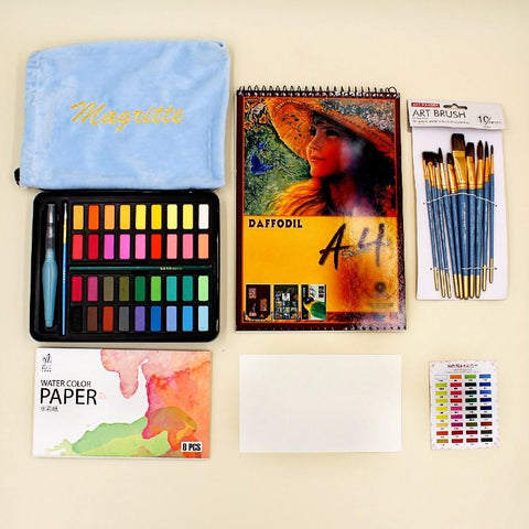 Fine Arts Magritte 36 + Art Ranger Mix Brushes + sketch Book 240g - Basics.Pk