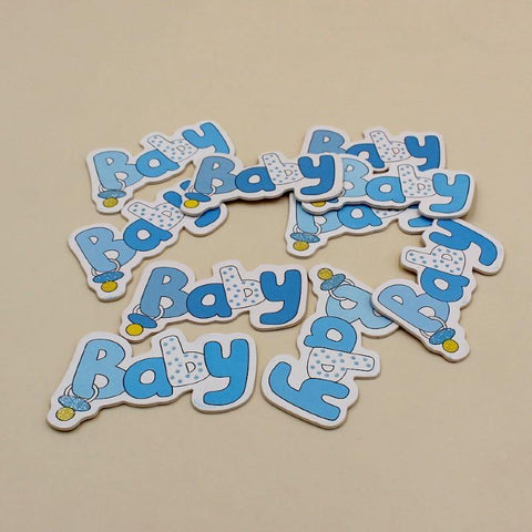 Non-Sticky Sticker Badge Baby Boy Nipple Blue - Basics.Pk